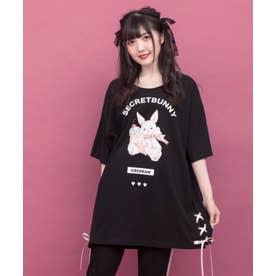アイスうさぎプリントビッグTシャツ(クロ)