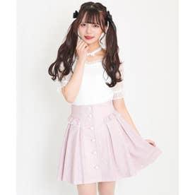ハートプリントスカート (ピンク)