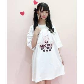 HUGウサギビッグTシャツ (ホワイト)