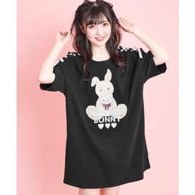 HUGウサギビッグTシャツ (クロ)
