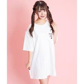 アイスウサギバックプリントTシャツ (ホワイト)