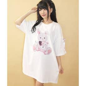 バブくまうさぎビッグTシャツ (ホワイト)