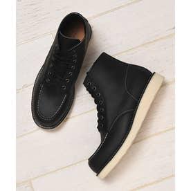 本革カウレザーモックトゥクラシックワークブーツ (ブラック)
