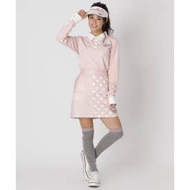 ランダムドットスカート (ピンク)