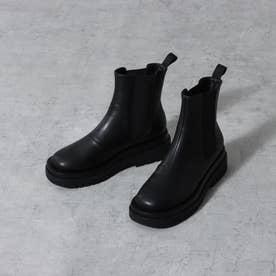 ボリュームソールサイドゴアブーツ (ブラック)
