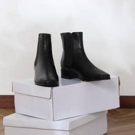 スクエアトゥサイドゴアブーツ (ブラック)