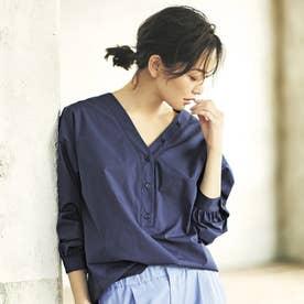 優待価格2WAYプルオーバーシャツ (ネイビー)