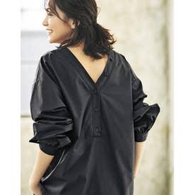 優待価格2WAYプルオーバーシャツ (ブラック)