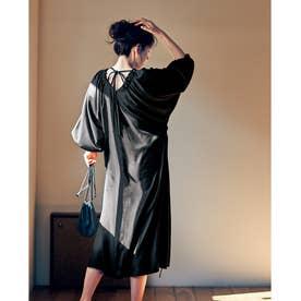 巾着ポシェット&マスク付きワンピース3点セット 【返品不可商品】(ブラック)