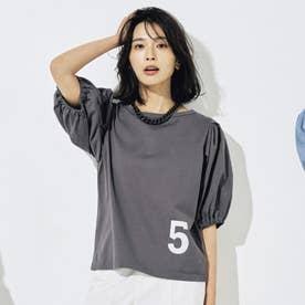ナンバーロゴTシャツ (グレージュ)