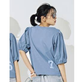 ナンバーロゴTシャツ (ブルー)