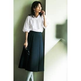 立体シルエット2WAYシャツ (ホワイト)