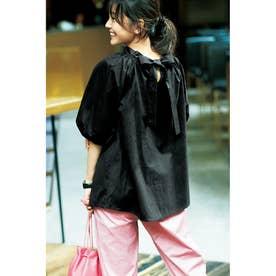立体シルエット2WAYシャツ (ブラック)