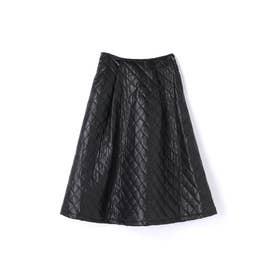 キルティングスカート (ブラック)