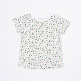 花柄プリントTシャツ (Lavender)