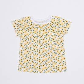 花柄プリントTシャツ (Yellow)