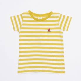 ボーダーすいか刺繍Tシャツ (Yellow)