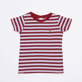 ボーダーすいか刺繍Tシャツ (Sax)