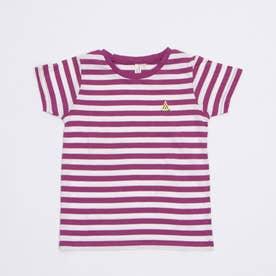 ボーダーすいか刺繍Tシャツ (Lavender)