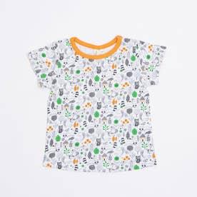 アニマル総柄Tシャツ (Orange)