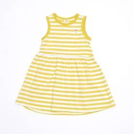 ボーダーノースリーブワンピース (Yellow)