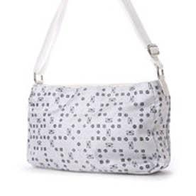 ジャガード織・サボイロゴ柄のバッグ (ホワイト)