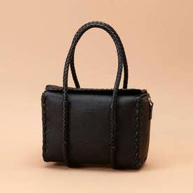かがりデザインボックスバッグ (ブラック)