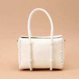 かがりデザインボックスバッグ (オフホワイト)