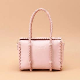 かがりデザインボックスバッグ (ピンク)