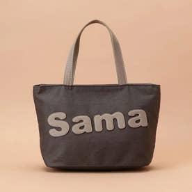 サマンサタバサパッチワークトート 小サイズ (ダークグレー)