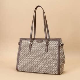 ST Jacquard tote bag (ブラウン)