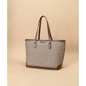 ST Jacquard big tote bag (ブラウン)