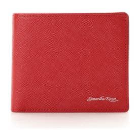 バイカラー折財布 (レッド)