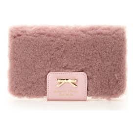 ボアリボンiPhoneケース(6Plus~8Plus) ピンク