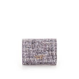ソフトツイード 折財布 ラベンダー