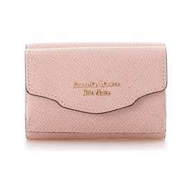 ウェーブフラップミニ財布 (ピンク)