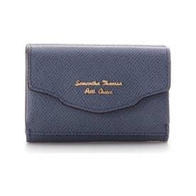 ウェーブフラップミニ財布 (ネイビー)