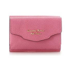 ウェーブフラップミニ財布 (フューシャピンク)