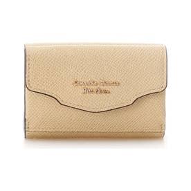 ウェーブフラップミニ財布 (イエロー)