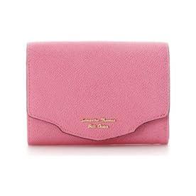 ウェーブフラップ折財布 (フューシャピンク)