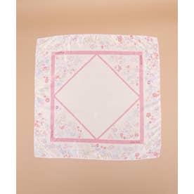 オリジナルフラワー柄スカーフ (ホワイト)