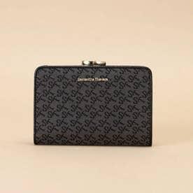ST Jacquard 二つ折り口金財布 (ブラック)