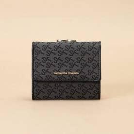 ST Jacquard 三つ折り口金財布 (ブラック)