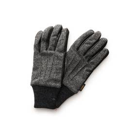 手袋 5本指 グレー
