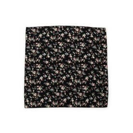 バードフラワースカーフ (ブラック)