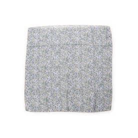 ミニフラワースカーフ (ブルー)