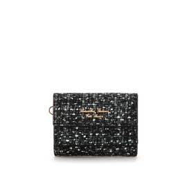 ソフトツイード ミニ財布 ブラック