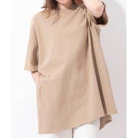 Samantha Green チュニックTシャツ(コーヒー染め) (グレージュ)
