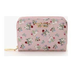 フラワーブーケデザインジャバラポケットカードケース (ピンク)