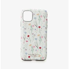 iPhone11ケース スプリンクルフラワー (ミント)